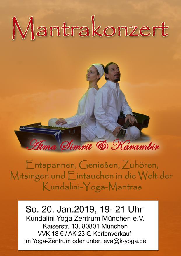 Mantrakonzert am 20. Januar 2019